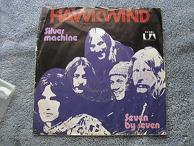 "Hawkwind Silver Machine with 7 x 7 on B Side 7"" Single"