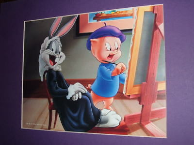 NEW LOONEY TUNES PORKY PAINTS BUGS Whistler's Mother LITHOGRAPHIC PRINT .