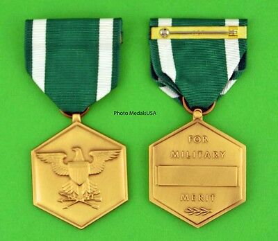 NAVY MARINE CORPS COMMENDATION MEDAL - Made in the USA - full size USM047