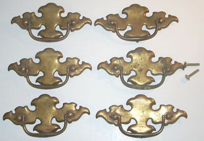 Set of Six Ornate Vintage Drawer Pulls