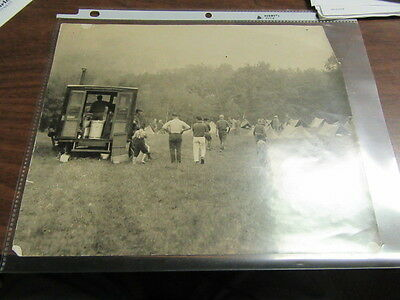 1930's Boy Scout Camp site photo with neat old truck     c27