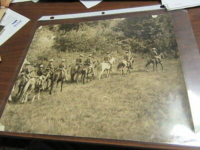 1930's Mounted Boy Scout Troop riding Photo          c27