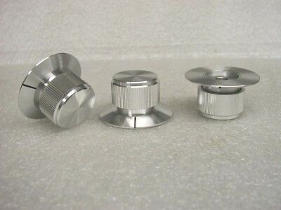 HIGH QUALITY SOLID ALUMINUM CONTROL KNOBS 1/4 HOLE  - 2 pcs