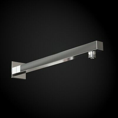 400mm Straight Square Fixed Chrome Brass Wall Arm For Shower Set Head