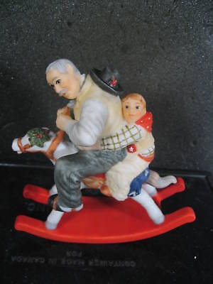 Goebel Rockwell GRAMPS AT THE REINS MIB Porcelain NEW OLD STOCK