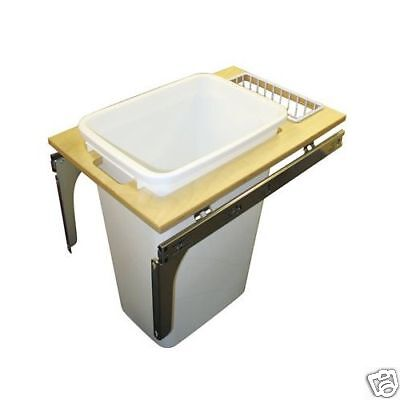 Kv Pull Out Trash / Recycle Bin 50 Quart Pdmtm145-1-50