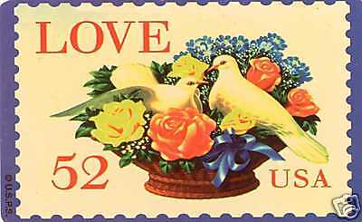 1994 Usps Love Stamp Valentines Day Doves Phone Card