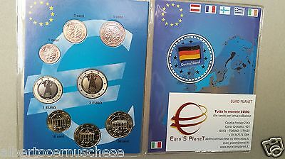 2002 GERMANIA 8 monete 3,88 EURO allemagne alemania germany deutschland Германия