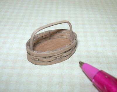 Miniature Chandronnait Small Oval Cherry Basket: DOLLHOUSE 1/12 Scale 1/24 Scale