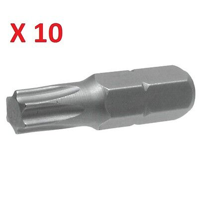 Pack Of 10 Torx Drive T25 Screwdriver Bits Torx T 25