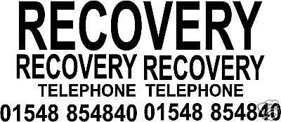 RECOVERY ILLUMINOUS YELLOW X8 STICKERS TRANSPORTER LORRY TRUCK RECOVERY