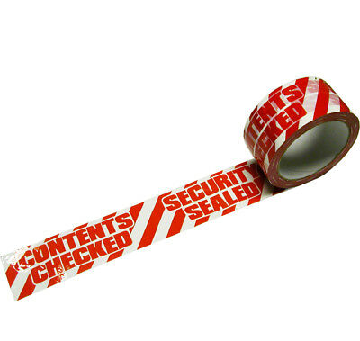 6 Rolls Security 48m x 66m Printed Parcel Tape