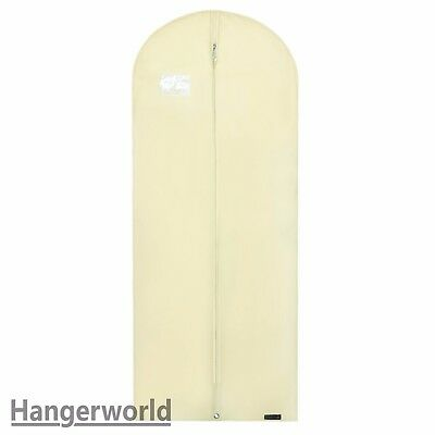 "Ivory Breathable Dress Covers Garment Clothes Protector Bags 60"" Hangerworld"