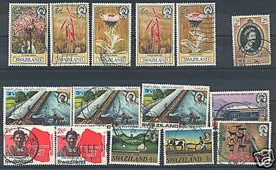 Swaziland Nice Lot Of 15 Used Stamps