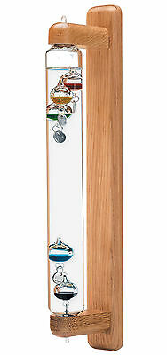 Galileo Thermometer Wall Mount Hanging Oak 17 inch