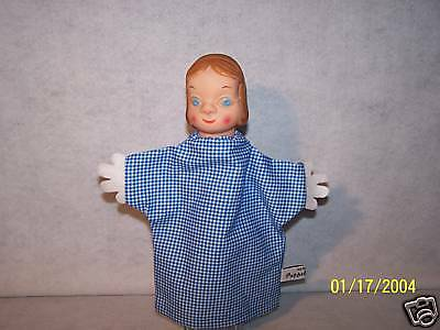 Vintage old antique Wizard of OZ Dorothy hand puppet NEW BODY