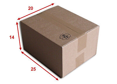25 boîtes emballages cartons  n° 22   - 250x200x140 mm - simple cannelure
