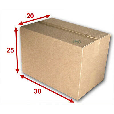 25 boîtes emballages cartons  n° 32   - 300x250x200 mm - simple cannelure