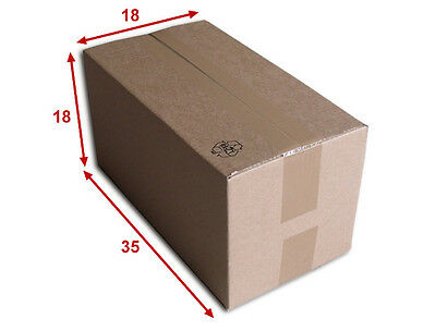 25 boîtes emballages cartons  n° 44   - 350x180x180 mm - simple cannelure