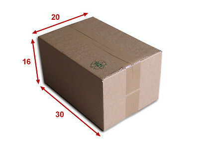 50 boîtes emballages cartons  n° 34   - 300x200x160 mm - simple cannelure