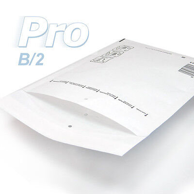100 Enveloppes à bulles blanches gamme PRO taille B/2 format utile 110x215mm