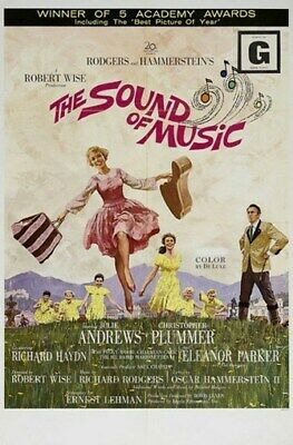 THE SOUND OF MUSIC MOVIE POSTER Julie Andrews VINTAGE 1