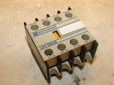 TELEMECANIQUE LA1-DN40 AUXILIARY CONTACT (LOT OF 4) ***NNB***