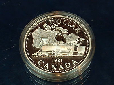 Canada  1981  ****  Proof Cameo  Silver Dollar   ****