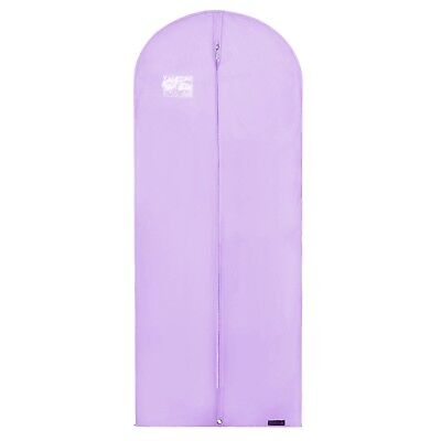 "Lilac Breathable Dress Garment Clothes Coat Cover Suit Bag Zip 60"" Hangerworld"