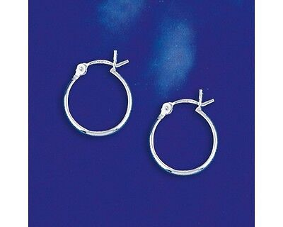 14mm Small Sterling Silver Hinged Hoop Earrings 2012
