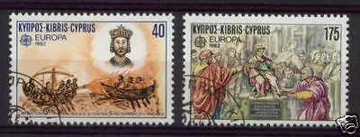 Cyprus 1982 Europa Historical Events Used Set