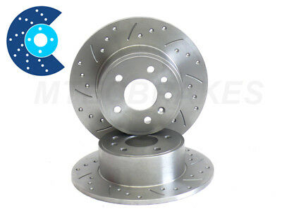 ALFA 156 Drilled Grooved Brake Discs Rear