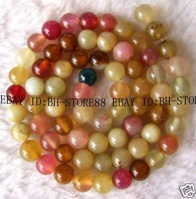 6mm Beautiful Multicloor Jade Round Beads 15.5''