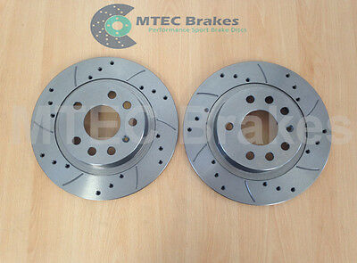 VECTRA C 279mm SOLID REAR DRILLED GROOVED BRAKE DISCS