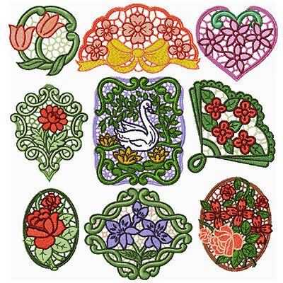 """ABC designs Romantic Lace Medallions Standalone Embroidery Designs Lace 5""""x7"""""""