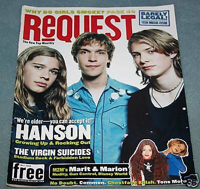 Hanson Request Pop Monthly Magazine May 2000