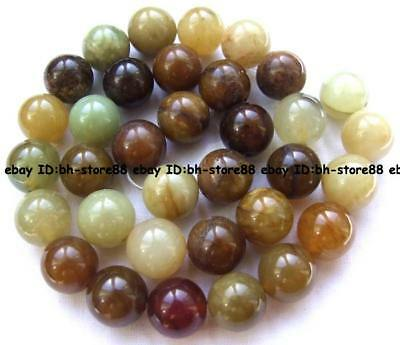 Charming!12mm Multicolor Jade Round Beads 15''