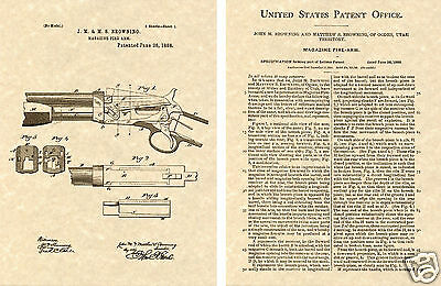 1885 WINCHESTER Single Shot Rifle Patent Browning #594