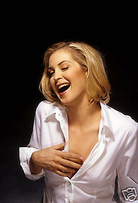 Kelly Rutherford Sexy Pose Open White Blouse 8X12 Photo
