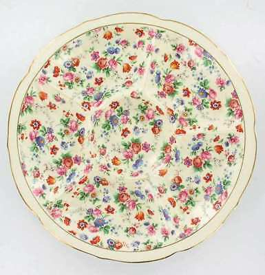 "Antique Erphila Dorset Cheery Chintz Sectioned Serving Plate Germany 11.5"" !"