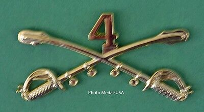 4th Cavalry Crossed Sabers Large Hat Pin