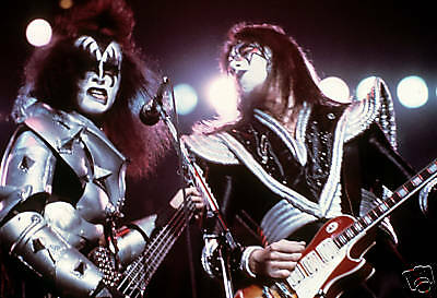 Kiss Rare Concert 70's 8X12 Photo From Transparency