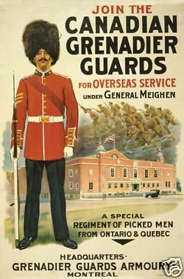 WWI Canadian Grenadier Guards 1918  Ontario Quebec