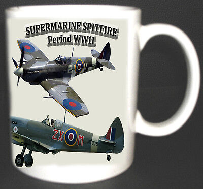 Supermarine Spitfire Aeroplane Mug. Limited Edition Gift Ww2 Collectable