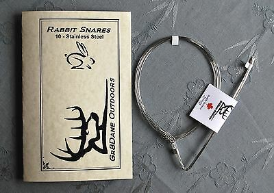 10 Rabbit or Squirrel Snares 20g Stainless Steel wire