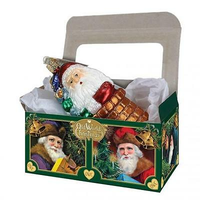 """5 14035 Old World Christmas Cardboard Gift Boxes 6""""x3 1/2""""x2 3/4"""" (Boxes Only)"""