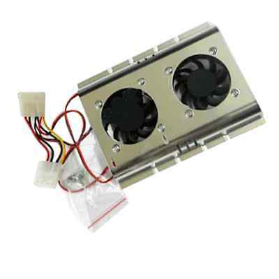 "2 Fan Cooler For Pc 3.5"" Hard Disk Drive Hdd Cooling"