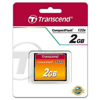 kQ Transcend CF 2 GB Compact Flash 2GB HighSpeed 133x Speicherkarte in OVP