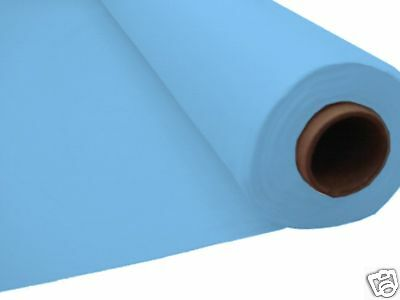 100ft BABY BLUE Plastic Banquet Roll Table Cover Buffet