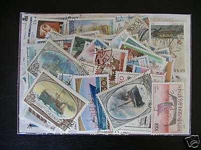 Timbres Transports/bateaux : 200 Timbres Tous Differents / Boat Stamps